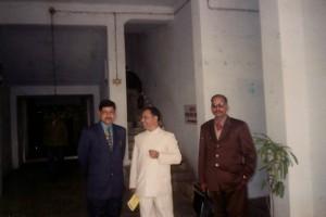 Dr. K.N. Singh and Dr. Arbind Kumar Singh interacting regarding schedule of 12th Prithvi Parva.