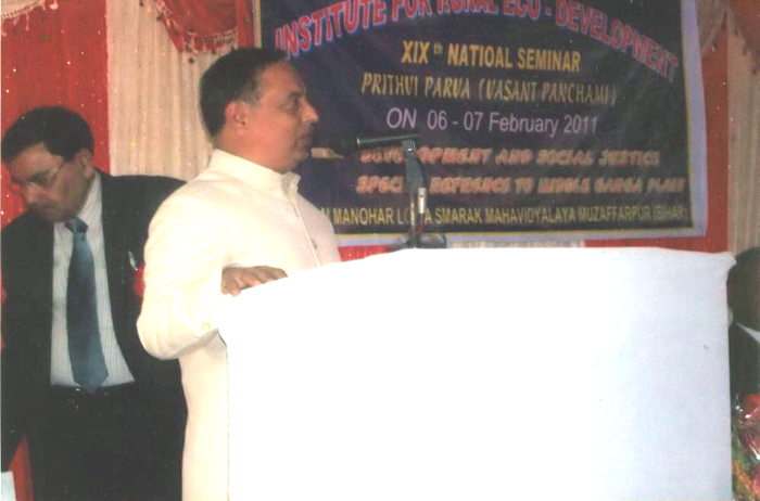 Prof. K..N. Singh, Greeting the Participants in 19th Prithvi Parva.